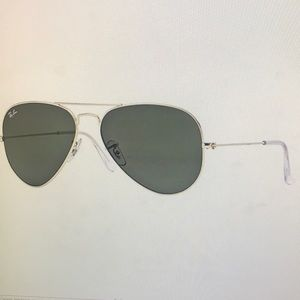 Used Ray-Ban Aviator Large Metal Sunglasses RB2035